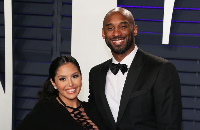 Kobe Bryant en zijn vrouw Vanessa in februari 2019.