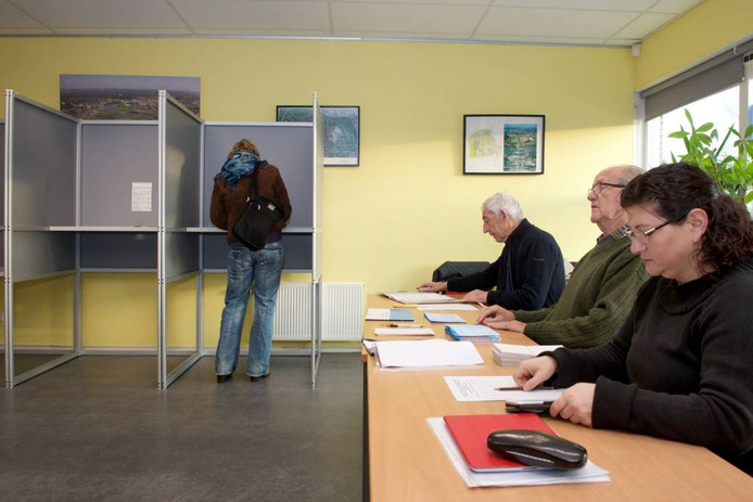 Het stembureau in Malburgen-West.