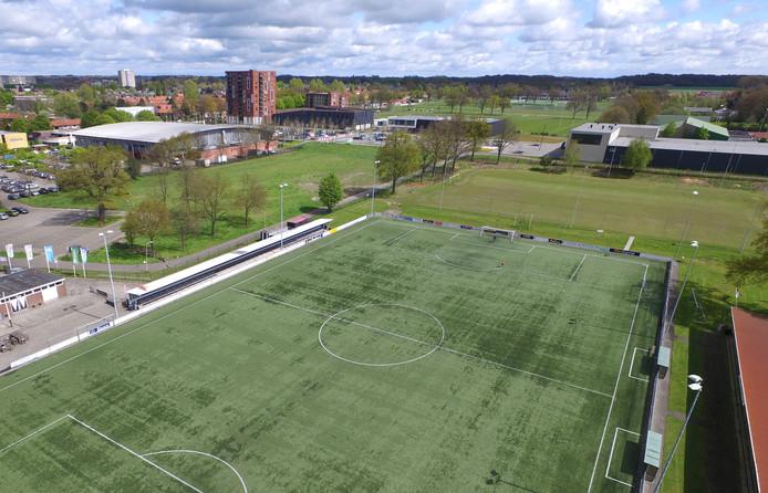 Sportpark Diekman, met op de voorgrond de velden van Sportclub Enschede.