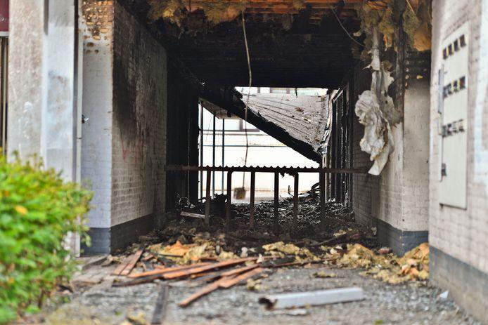 De Posthof in Bladel na de brand op maandagnacht.