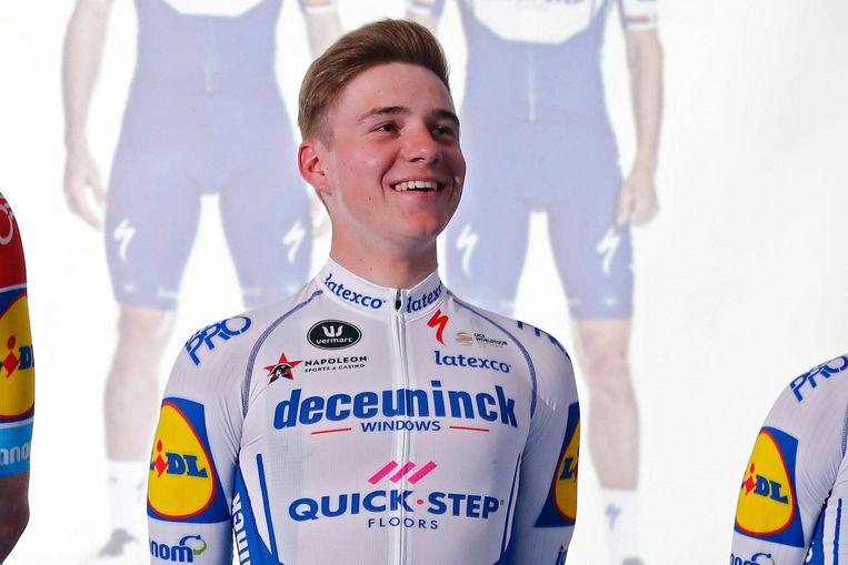 Archieffoto tijdens de 2020 Deceuninck - Quick-Step teamvoorstelling.