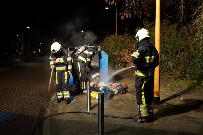 De brandweer had het brandje vrij snel onder controle.