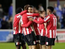 Jong PSV wint hotseknots-duel met FC Eindhoven in extremis