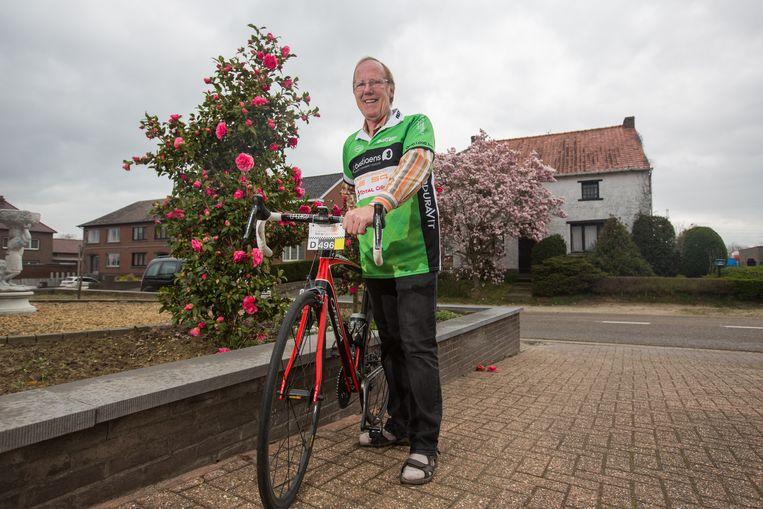Jean-Pierre Oben is momenteel druk aan het trainen om in mei aan de start van de 1000 Kilometer voor Kom Op Tegen Kanker te kunnen staan.