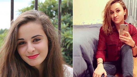 Mauranne (20) (links) en haar nicht Laura (21).