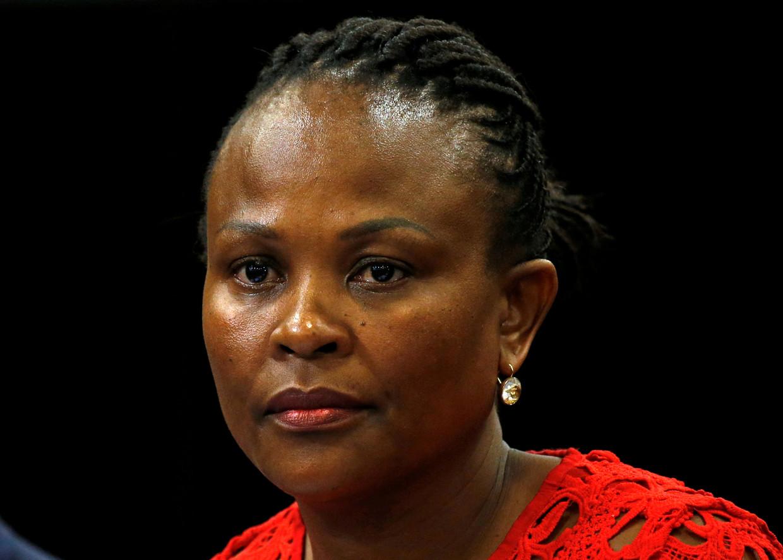 De ombudsvrouw van Zuid-Afrika, Busisiwe Mkhwebane.