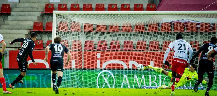 Hoggas miste een penalty.