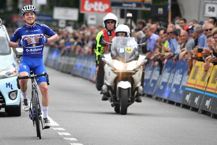 Evenepoel zegeviert in de Baloise Belgium Tour.