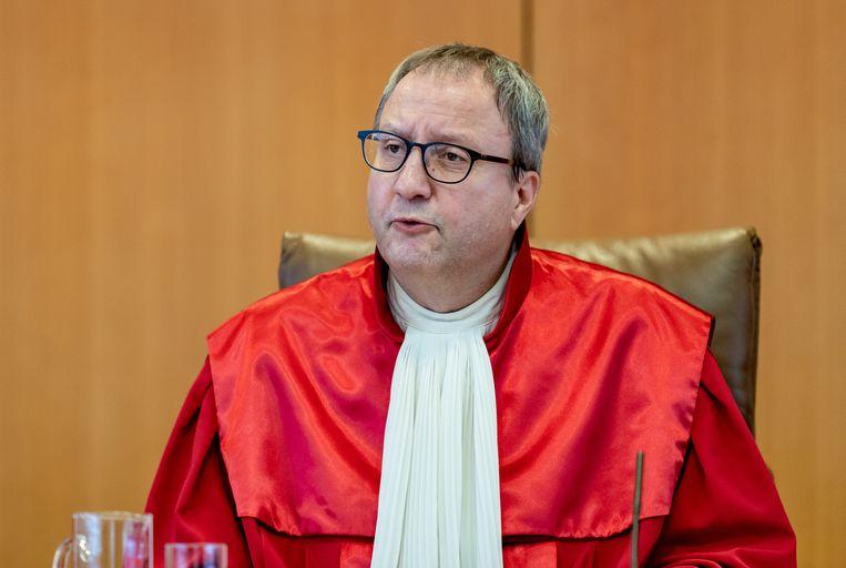 De voorzittende rechter van het Duitse constitutionele gerechtshof, Andress Voßkuhle. Beeld EPA