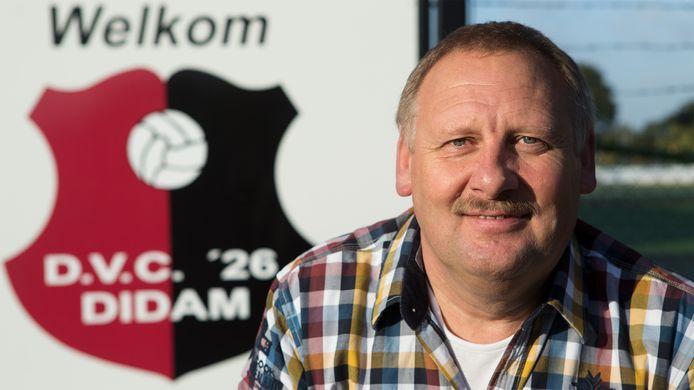 Jan Overgoor bij zijn vertrek als voorzitter van DVC'26 in 2013.