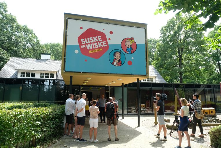 Het vernieuwde Suske en Wiske museum steekt volledig in het nieuw. De eerste nieuwsgierigen konden vandaag met het nieuwe concept komen kennismaken.