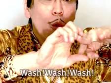 """Un ancien tube absurde remis au goût du jour: """"J'ai une main. J'ai un savon. Lave! Lave! Lave!"""""""