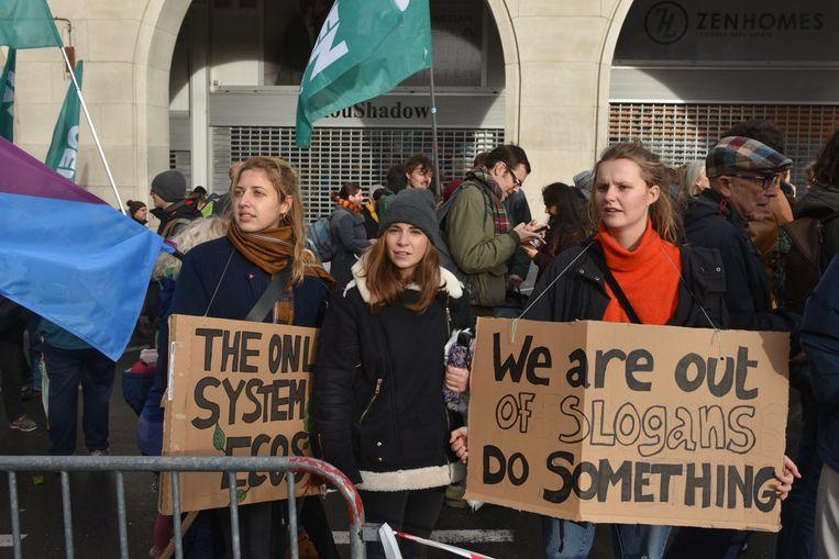 Klimaatoptocht Brussel 8 december.