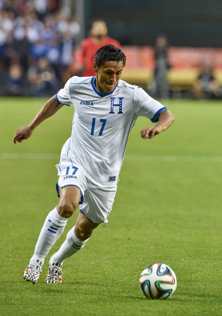 Andy Najar in betere tijden met Honduras tijdens een vriendschappelijke partij tegen Turkije.