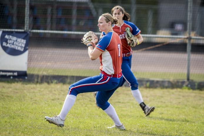 Laura Wissink zorgde in de eerste helft voor een punt.