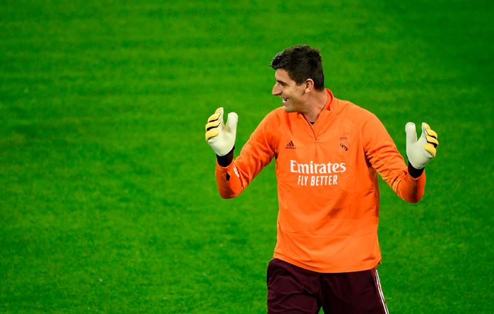 Thibaut Courtois in Duitsland.