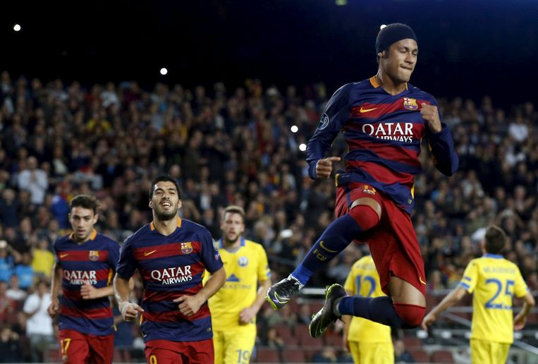 Neymar was goed voor twee treffers