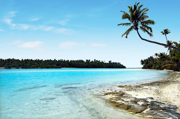 Tapuaetai, een van de Cookeilanden in de Stille Oceaan.