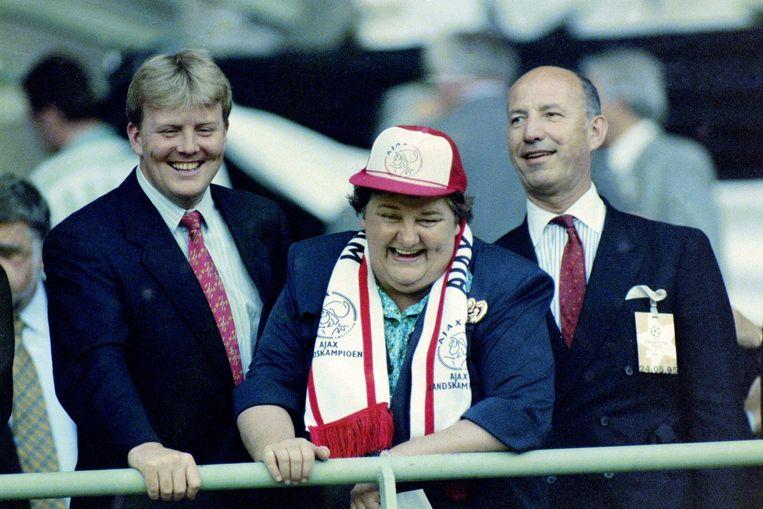 1995: Willem-Alexander, Terpstra en Huibregtsen bij Ajax. Beeld VI Images