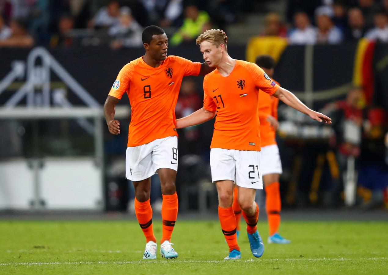 Georginio Wijnaldum en Frenkie de Jong verdienden de hoogste cijfers.