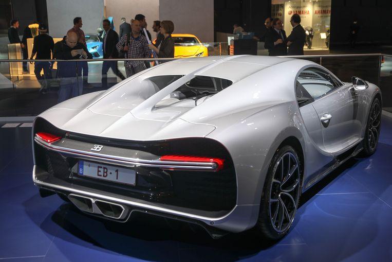 De meest luxueuze van het Autosalon, de Bugatti Chiron. Prijskaartje: 3,1 miljoen euro.
