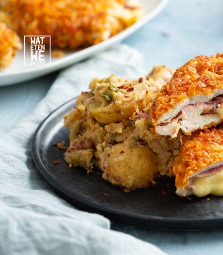Wat Eten We Vandaag: Cordon bleu à la Perry met groene koolhutspot