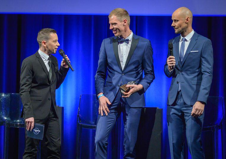 Merijn Casteleyn, Tim Declercq en Tom Boonen.