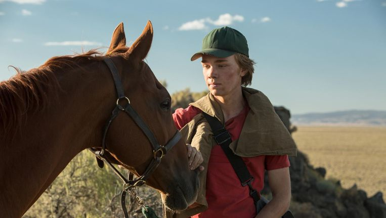 Charlie Plummer als Charley Thompson, een jongen die nergens van droomt omdat hij geen kansen ziet. Beeld Lean on Pete