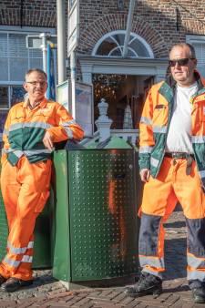 Afvalprikkers Peter en Christiaan helpen winkelstraten in Veerse dorpen in de top-10