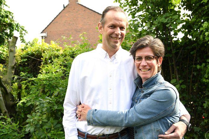John Martens met echtgenote Lisette.