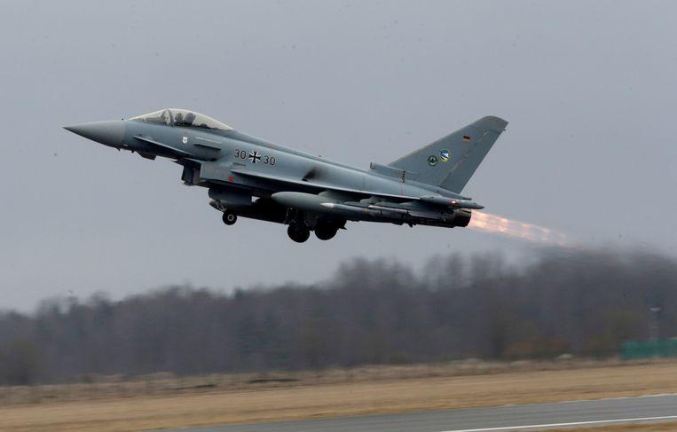 Een Eurofighter Typhoon-straaljager.