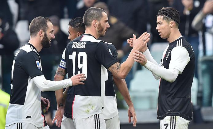 Cristiano Ronaldo was met twee treffers belangrijk voor Juventus.