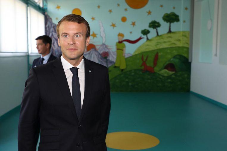 Macron Beeld AFP