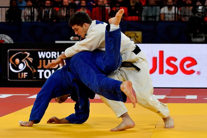 Jesper Smink wint brons in de categorie -90kg tijdens de Grand Prix van Den Haag vorig jaar