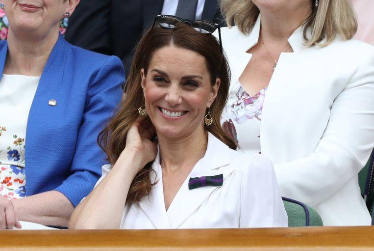 Kate Middleton tijdens een bezoek op Wimbledon