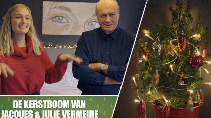 Kerstboom kijken bij... Jacques Vermeire en zijn dochter Julie