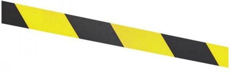 Het bleek uiteindelijk om een geel-zwart lint te gaan.