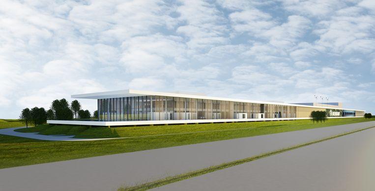 Het Outdoor Experience Center van Renson is 380 meter lang en ligt vlak naast de E17.