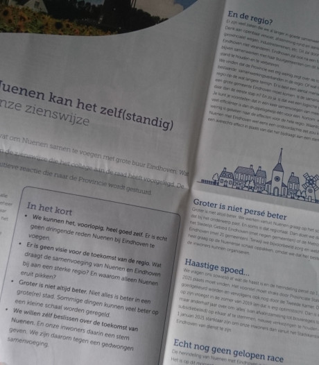 Advertentie over herindeling wekt woede bij oppositie in Nuenen