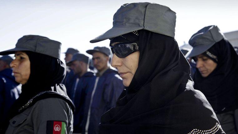 Afghaanse politieagentes eind 2012 in Herat. Beeld ap