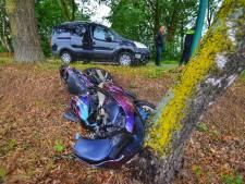Motorrijder blijft ongedeerd na valpartij in Eersel