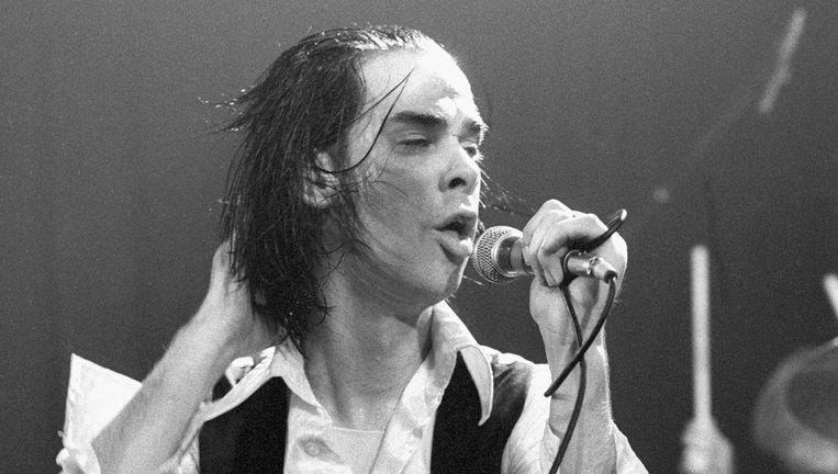 Nick Cave in Paradiso, Amsterdam 19 juni 1986 Beeld Getty / Frans Schellekens
