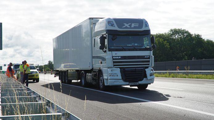 Een defecte vrachtwagen op de A1 leidde vanmorgen tot extra vertraging voor weggebruikers.