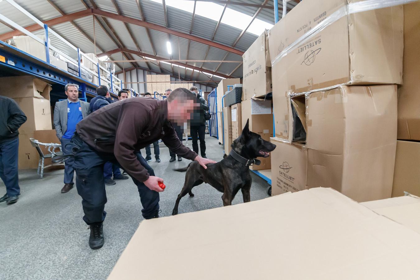Oosterhout - 11-4-2019 - Foto: Pix4Profs/Marcel Otterspeer - Een kijkje bij politiehondentrainers Koen Schellekens en Claudia Boomaars. Daar was deze week een delegatie uit Iran op bezoek die aldaar de honden gaan inzetten.