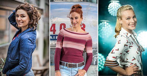 VTM-gezichten Evi Hanssen, Natalia en An Lemmens.