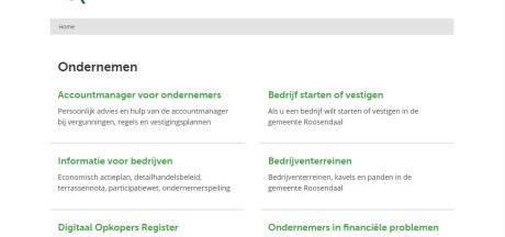 Gemeente Roosendaal past website 'ondernemen' nog dit jaar aan