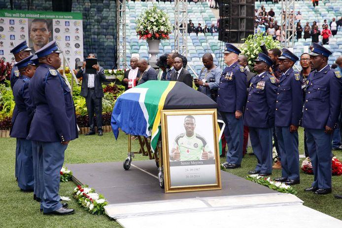 De begrafenis van Senzo Meyiwa.