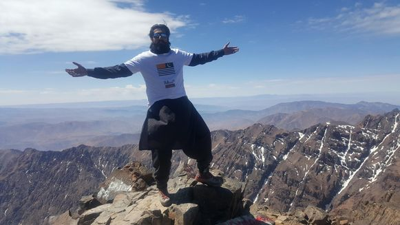 Naqash op de berg Toubkal, in Marokko