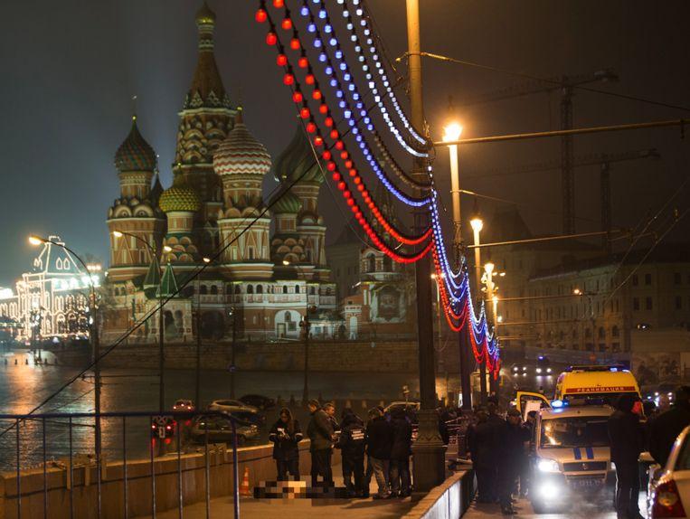 Nemtsov werd doodgeschoten in de buurt van het Kremlin.
