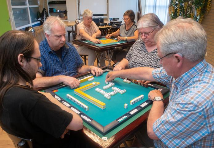 Reylly Brands, Olav Sommers, Gerda van Oorschot en Foppe Bakker (vlnr) in training voor het EK.